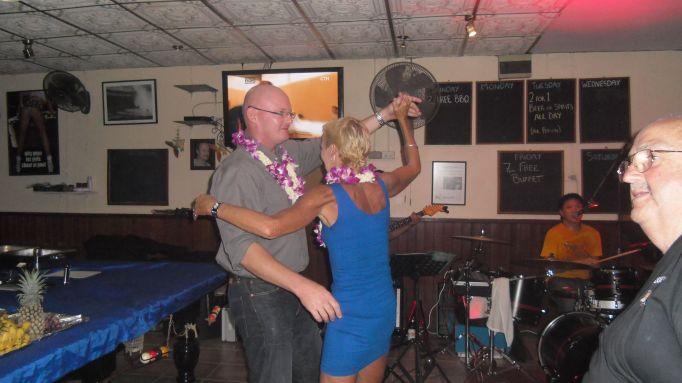 Jen and Brett takes on the dance floor.